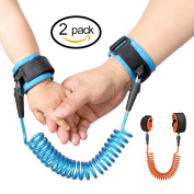 Talent Fashion 2 Pcs Anti Lost Belt Wrist Link/Band Safety Harness Soft Cuff Secure Cut-Proof Core for Kids/Toddler Preschoolers