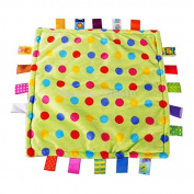 Baby Comforting taggies Blanket 30cm x 30cm SoSquare ft Plush Baby Appease Towel for 0-3 Years Old Babies