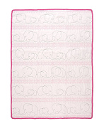 Tadpoles Quilted Baby Blanket, Pink, Small