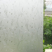 VEOLEY Window Film Static Cling Vinyl Privacy Glass Films Decorative for Home, 0.5m x 2m Per Roll