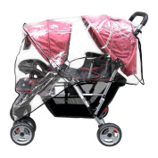 Aligle Weather Shield Double Popular for Swivel Wheel Stroller Universal Size Baby Rain Cover/Wind Shield Deal