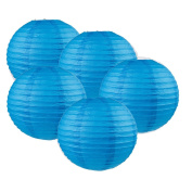 Tmade 5 PCS 10cm Blue Paper Lanterns for Birthday Baby Shower Wedding Party Garden Home Decoration