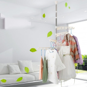 Habitat hangers, floor drying racks, folding telescopic balcony single rod type simple drying racks
