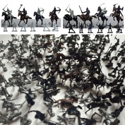 Soldiers Knights & Horses Soldier Toys Army Men Action Figures Playset, 176 PCS