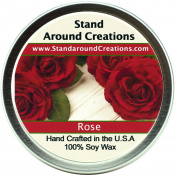 Premium 100% All Natural Soy Wax Aromatherapy Candle - 180ml Tin -Rose