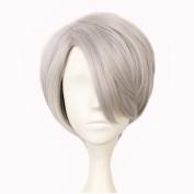 Yuehong Short Synthetic Hair Peruca Cosplay Wig