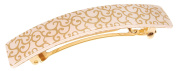 France Luxe Classic Rectangle Barrette - Gold Barocco