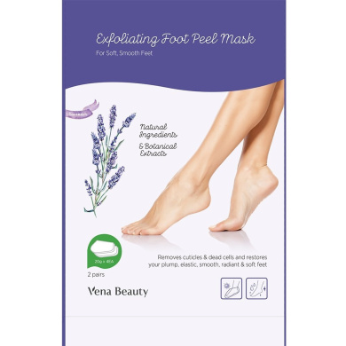 Exfoliating Foot Peel Mask,Exfoliating Calluses and Dead Skin Remover,Get Soft Baby foot in 1-2 Weeks lavender by Vena Beauty (1 Pair)