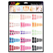 Xxshop 180 pcs Colourful Mixed TOE False Nails / 3D Nail Art Tips