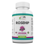 Rosehip Joint Health Extract by Fit Life Health - Rich In Vitamins A, C, E And Beta-Carotene - Helps Relieve Joint And Osteoarthritis Pain - Supports Kidney Function - Beneficial To Knees, Hips And Hands - High Strength 2,000mg Formula - 60 Capsules - ..