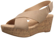 CL by Chinese Laundry Womens Dream Girl Nubuck Wedge Sandal, Nude, 6 M US
