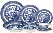 Churchill Blue Willow 42 Piece Dinner / Tea Set