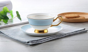 XCVS Coffee Cup ceramic Cup and saucer bone China tea cups of simple Office Cup,1
