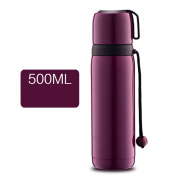 YIHANG @ 304 Stainless Steel Vacuum Insulation Cup Men And Women Outdoors Travel Portable Cup,Purple
