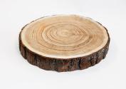 Large Christmas Rustic Wooden Flat Slice 33 -37 Cm Wedding Decor Vintage