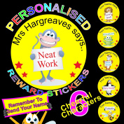 Reward Stickers / Labels For Teachers or Parents Personalised x 108 Add your Name To The Stickers To Make Them Extra Special A BIG Encouragement For Your Little Ones Send A Message To Us With Your Printing Details See Photo No 2