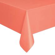 Coral Plastic Tablecloth, 2.7m x 1.4m
