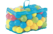 Balls for Ball Pit | Bag of 100 Multi-Coloured Play Balls| Ball Pool Balls | Plastic Balls | Soft Ball Pit Balls | Plastic Balls for Ball Pit