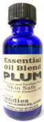 Plum 1oz / 29.5ml Blue Glass Bottle of Premium Fragrance Oil Infused with Essential Oil, -Skin Safe Oil, Candles, Lotions Soap & More