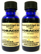 COMBO - TWO BOTTLES OF Tobacco 1 oz / 29.5 ml GLASS Bottle - Premium Grade A Quality Fragrance Oil, Tobacco - Skin Safe Oil
