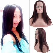 Razeal Synthetic Lace Front Wig for Women Natural Straight Long Wigs Heat Resistant Fibre Hair Burgundy 99J 50cm