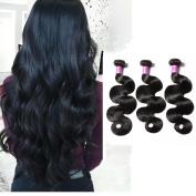 Shengqi Hair Remy Human Hair Bundles Body Wave Human Hair Extensions 10a Grade Brazilian Hair Weave Bundles Wet and Wavy Virgin Brazilian Hair 18 18 18