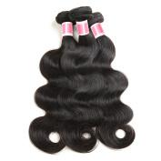 Beauty Princess Peruvian Body Wave Bundles 100% Unprocessed Virgin Human Hair Weave Extensions Peruvian Body Wave 3 Bundles Double Weft Natural Colour