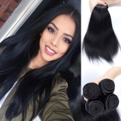 Juyouya Brazilian Virgin Straight Human Hair Weave Extension 100g/piece Unprocessed Real Human Hair 4 Bundles/Lot Natural Colour Smooth and Elegant
