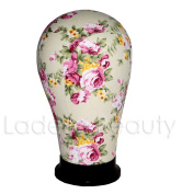 Floral Collection Canvas Block Head 4 Size available (50cm - 60cm ) - Mannequin Head Wig Display With Mount Hole F5(23) …