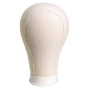 Luxwig Light Weight Water Repellant Canvas Wig Head for Wig Making Styling and Display Premium Quality Wig Stand