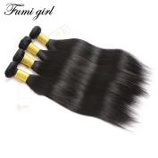 Fumigirl 7a Brazilian Straight Hair 4 Bundles Mixed of 30cm 36cm 41cm 46cm Natural Black Colour Virgin Brazilian Straight Weave Human Hair Extensions