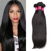 ItsUHair 7A Brazilian Straight Hair Deals 100% Unprocessed Virgin Human Hair Extensions Weft #1B Natural Black