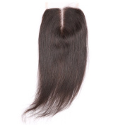 Yokada Hair Straight Lace Closure 4x 4 Brazilian Virgin Hair Natural Colour 130% Density Middle Part Top Closures