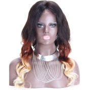 Ombre Human Hair Body Wave Lace Front Wig with Baby Hair Brazilian Virgin Hair Full Lace Wig 130% Density