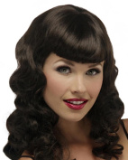 Pinup Glamour Girl Bettie Page Cosplay Costume Wig Fun Pin Up by Jon Renau Wigs - Cherry Cobbler