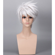 COSIN Short Layered Cool Men Boys Tousled Wig Heat Resistant Synthetic Wigs for Anime Cosplay Party
