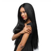 Ethereal natural black long straight hair wigs