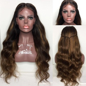 RIJIA Ombre Lace Front Human Hair Wigs With Baby Hair Natural Wave Brazilian Ombre Full Lace Wigs For Black Women 130Density