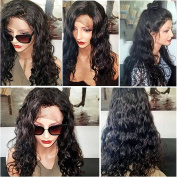 Fushen Hair 360 Lace Wigs 180% Denisty Curly Lace Front Human Hair Half Wigs for Black Women 8A Virgin Pre Plucked 360 Lace Frontal Wigs with Baby Hair