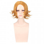 COSIN 30cm Unisex Short Layered Cool Wigs Tousled Styling Fun Wigs for Costume Party