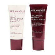 Keranique Scalp Stimulating Shampoo & Volumizing Keratin Condtioner Trial Set 30ml each