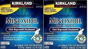 Kirkland Minoxidil 5% Extra Strength Hair Regrowth for Men kjuDSe, 2Pack