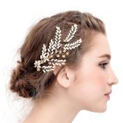 VANKOKO Vintage Leaf Shape Bridal Hair Clips Headpiece Wedding Hair Accessories