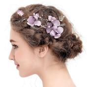 VANKOKO Vintage Leaf Flower Hair Piece Bridal Hair Clips Wedding Hair Accessories
