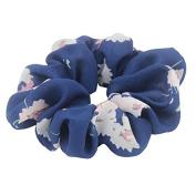 Susulu Set of 4pcs Women's Chiffon Flower Hair Scrunchies Chiffon Ponytail Holder