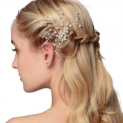 VANKOKO Pearl Crystal Hair Pins Bridal Headpiece Wedding Hair Accessories
