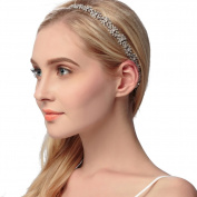 VANKOKO Rhinestones Bridal Headband Wedding Hair Accessories Headpiece