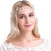 VANKOKO Pearl Bridal Headband Wedding Hair Vine Headpiece