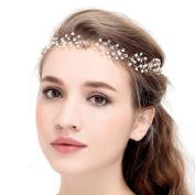 VANKOKO Womens Pearl Rhinestones Wedding Bridal Hair Vine Headpiece headband