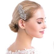 VANKOKO Vintage Rhinestones Crystal Side Hair Comb for Wedding